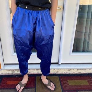Yohji Yamamoto super blue harem pants